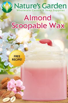 Free Almond Scoopable Wax Recipe by Natures Garden