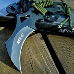 """8"""" M-TECH Tactical Combat Neck FIXED BLADE KNIFE Karambit Claw w/ KYDEX SHEATH 