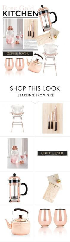 """""""Rose Gold Kitchen"""" by vice-versace ❤ liked on Polyvore featuring interior, interiors, interior design, home, home decor, interior decorating, Zuo, Urban Outfitters, W&P Design and DutchCrafters"""