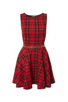 RIRI Tartan Dress  £25.00    Tartan print skater dress inspired by Rihanna's X Factor performance outfit.