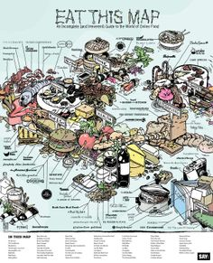 An Irreverent (and Delicious) Map of the Online Food World via SAY Magazine
