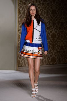 Look 13 from Fay Women's Spring - Summer 2014 collection seen on the catwalk.