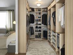 Dressing en U en arrière chambre - Home & DIY Walk In Closet Design, Bedroom Closet Design, Master Bedroom Closet, Closet Designs, Home Bedroom, Bedroom Decor, Bedrooms, Wardrobe Design, Master Suite