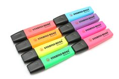 Available for over 40 years and still one of the best selling highlighters - Stabilo Boss Highlighter Pen.