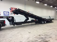 Need to haul a shipping container? Here's the ideal trailer for the job. Built by Natinwide Trailers, powered full tilt with winch, container hauler. Tilt Trailer, Trailer Diy, Trailer Build, Hauling Trailers, Car Hauler Trailer, Custom Trailers, Trailers For Sale, Shipping Container Buildings, 72 Chevy Truck