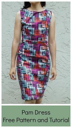 PADRÕES e tutoriais gratuitos de costura | On the Floor - corte padrão Barbara vestido