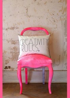 Bright Neon Pink Chair