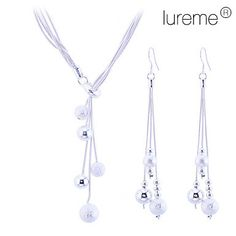 Intionix Shop Lureme Women's Matte Little Ball 925 Sterling Silver Plated Jewelry Set(necklace & Earrings). Occasion Party Material Alloy Material Shown Color Silver Set Include Earrings, Necklaces Length of Necklace (CM) 44 Net Weight (Kg) Women's Jewelry Sets, Cheap Jewelry, Women Jewelry, Bling Bling, Ball Necklace, Plaque, Necklace Lengths, Fashion Necklace, Wedding Jewelry