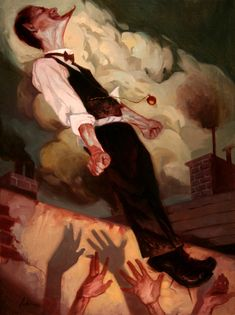 Artwork - Spring-Heeled Jack - was created by Jeremy Wilson. Art And Illustration, Illustrations And Posters, Conceptual Illustrations, Wilson Art, Anatomy Poses, Gothic Art, Beautiful Artwork, Traditional Art, Dark Art