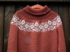 Ravelry: Project Gallery for Ryðrauð pattern by Steinunn Birna Gudjonsdottir Fair Isle Knitting, Knitting Yarn, Baby Knitting, Sweater Knitting Patterns, Knit Patterns, Icelandic Sweaters, Fair Isle Pattern, How To Purl Knit, Pulls
