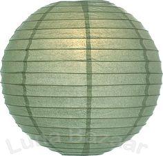 Sage Green 8 Inch Small Round Paper Lanterns