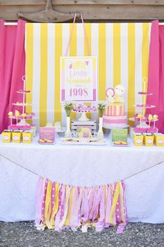 Pink Lemonade themed birthday party via Kara's Party Ideas | KarasPartyIdeas.com (28)
