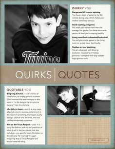 Quirks and quotes: an authentic way to tell a story | CZ Design