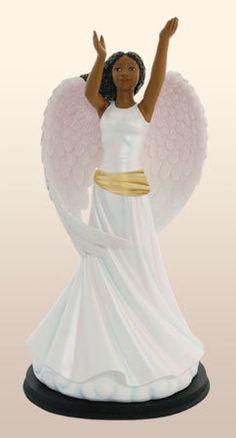 Osmun Gifts - Worship Angel Figurine : African American, $39.95 (http://www.osmungifts.com/worship-angel-figurine-african-american/)