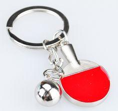 Table tennis ball and bat keychain | table tennis ball and bat keyring - $4.99USD