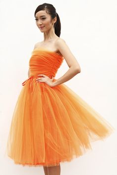 Tulle Skirt Tea length Tutu Skirt Elastic Waist by Sophiaclothing, $154.99