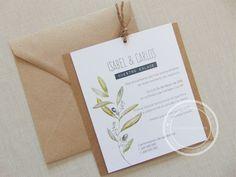Invitaciones de boda rústicas, modernas y sencillas Diseño de Tu día Con Amor