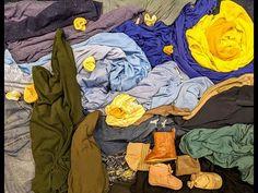 Laundry Art - YouTube Art Challenge, Laundry Art, Virtual Art, Vincent Van Gogh, Teaching Art, Fabric Art, Art Google, Art School, Webtoon