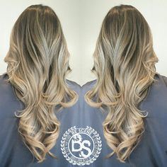 beige blonde balayage ombre with an ash brown base by Linh Phan of Be Scene Hair Studio. https://instagram.com/bescene/