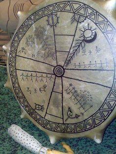 Shaman Woman, Magic Box, Celtic Symbols, American Indian Art, Tambour, Compass Tattoo, Stone Painting, Runes, Archaeology