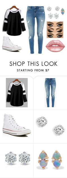 """Untitled #72"" by mairethekiller on Polyvore featuring Ted Baker, Converse, WWAKE and Lime Crime"