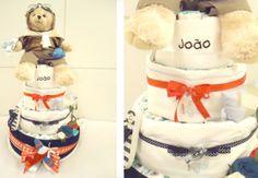 Decoração: bolo de fraldas - Bebê.com.br