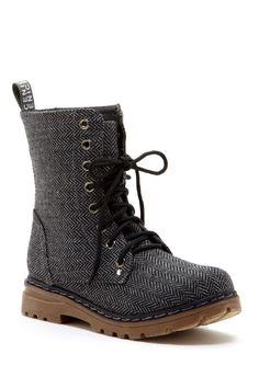 The Best Men's Shoes And Footwear :   Carrini Herringbone Print Boot    - #Men'sshoes