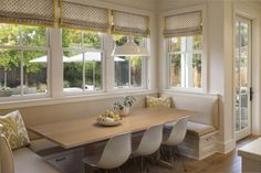kitchen nook with builtin banquette seating