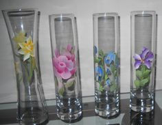 Hand Pained Bud Vases by FromMyBrush on Etsy, $8.00