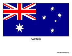 Australian flag + many more. All FREE Printables Australian Party, Australian Flags, Australia For Kids, Australia Map, Beaver Scouts, Homeschool Kindergarten, Mermaid Birthday, School Resources, Your Teacher