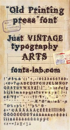 Old printing press_FREE-version font #free #font