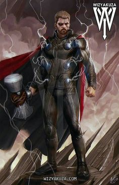 Thor (by: Wizyakuza) Odin Marvel, Marvel Dc Comics, Marvel Avengers, Marvel Comic Universe, Comics Universe, Marvel Cinematic Universe, Marvel Comic Character, Marvel Characters, Marvel Movies