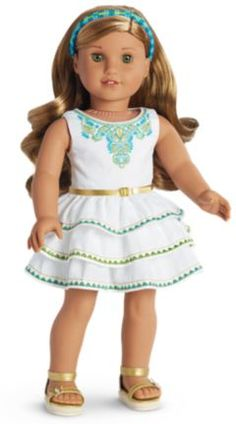 American Girl released some new items today, yay! Some for Lea, Truly Me, Bitty Baby, new books and accessories for girls. I love Lea's Celebration Outfit, white is so pretty on her, I'll have to get