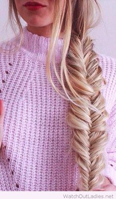 Waffle sweaters and fishtail braid