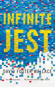 Infinite Jest cover design by gray318 (Abacus / 2016)