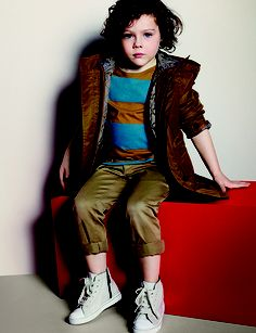 Lightweight nylon parka with detachable diamond quilted warmer from the Burberry S/S13 Childrenswear collection