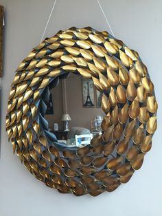 stunning gold leaf mirror - another statement for the wall Lovely Shop, Gold Leaf, Home Accessories, Mirror, Wall, Home Decor, Homemade Home Decor, Home Decor Accessories, Mirrors