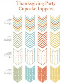 Free printable: Thanksgiving cupcake toppers