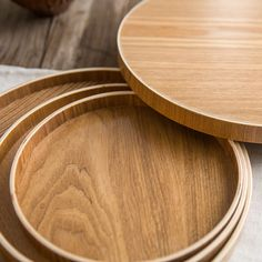 Retro Round DIY Handcraft Wood Dish Coffee Tea Fruit Tray Wooden Plate Serving Dish Storage Round Shape 21CM/24CM/30CM 3 Size-in Dishes & Plates from Home, Kitchen & Garden on Aliexpress.com | Alibaba Group