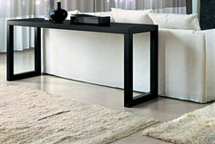 Modern Classic designer console table in wenge. Its simple legs bring elegance to this table. It is a perfect piece of furniture to create statement to your interior Beige Color, Colour, Outdoor Coffee Tables, Modern Console Tables, Wood Veneer, Modern Classic, Solid Wood, Entryway Tables, Simple