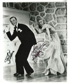 Fred Astaire and Ginger Rogers Signed 8x10  (Dance Image)