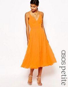 ASOS PETITE Pleat Midi Dress