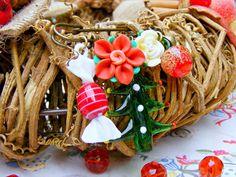 Christmas Brooch Pin Red Green Kilt Pin Christmas by Sweetystuff, £22.00