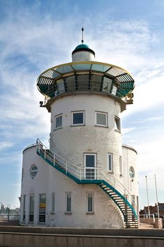 Lighthouse in Harlingen, Netherlands