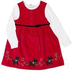 Sweet Niños niña Kord vestido + Camiseta de manga larga rojo blanco Perros 110 #camiseta #starwars #marvel #gift