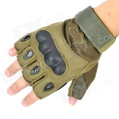 Airsoft Tactical Outdoor Sports Cycling Riding Half Finger Gloves - Army Green  Price: $14.40