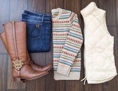 STITCH FIX I like patterned sweaters and preppy vests to keep me warm.