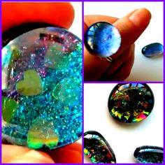 DIY Fake Opals & Shimmer Rings (Nail Polish & Glass Stones)
