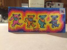 Mail Order Envelope for the Grateful Dead 50th Anniversary Reunion Show set for July 3, 4 and 5 2015 at Chicago's Soldier Field.