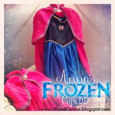 "Step-by-Step instructions and photos for ""Anna's"" FROZEN Cape DIY {from a towel!} by Daisha Sheets #Frozen, #DIY"
